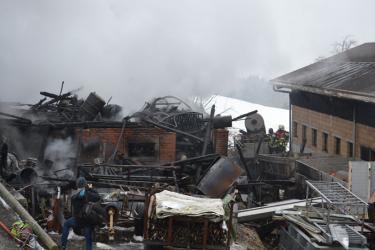 Rengg  Haus und Remise abgebrannt